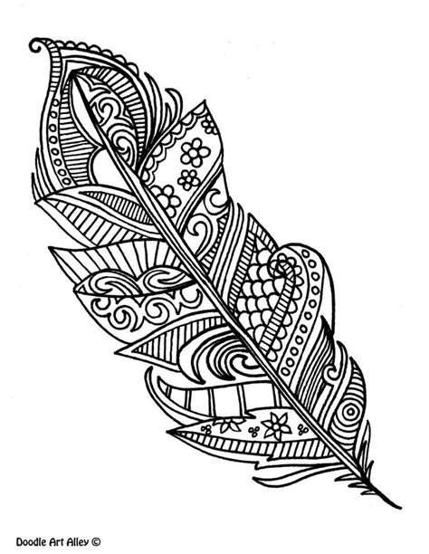 advanced coloring pages feather coloring pages