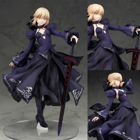 Pvc Anime Fate Stay Fate Ccc Saber Dress Ver saber black evening dress version fate stay unlimited blade works pvc figure