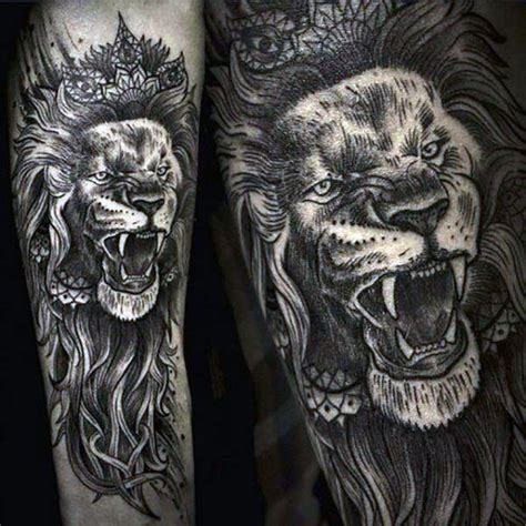 detailed tattoo designs for men 85 tattoos for a jungle of big cat designs