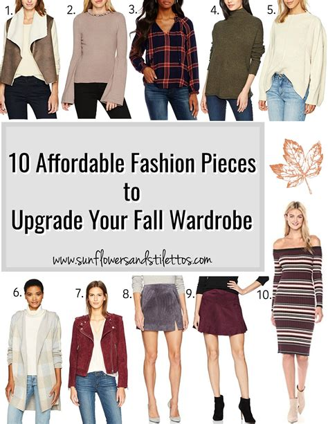Pieces To Update Your Workout Wardrobe With by 10 Affordable Fashion Pieces To Upgrade Your Fall Wardrobe