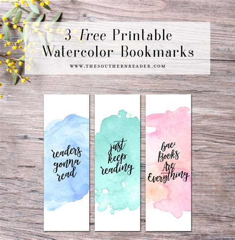 free printable bookmarks pinterest free printable watercolor bookmarks calendar pinterest