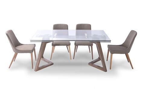 Casual Dining Table And Chairs 8811 Table And 941 Chairs Modern Casual Dining Sets Dining Room Furniture