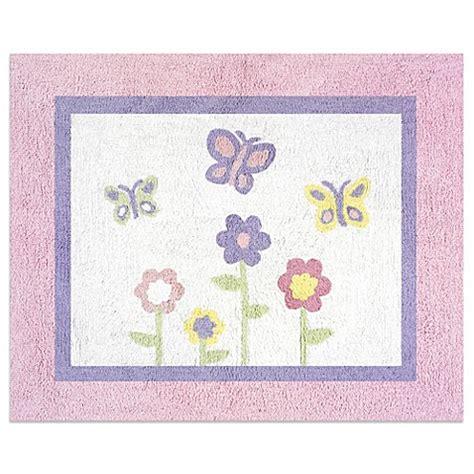 sweet jojo designs rugs sweet jojo designs butterfly floor rug in pink purple buybuy baby