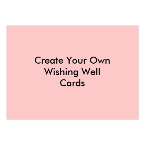 make your own card create your own wishing well cards pink business cards