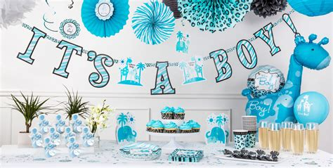 blue safari baby shower supplies city