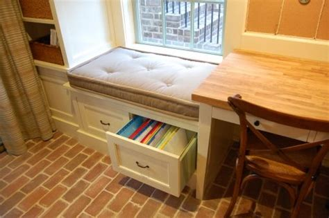 built in storage bench with drawers built in drawers a cushioned window seat where you