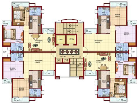 Japanese Castle Floor Plan 2 bhk and 3 bhk apartments in rajpura