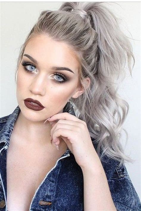 High Ponytail Hairstyles by 20 Trendy Gray Hairstyles Gray Hair Trend Balayage