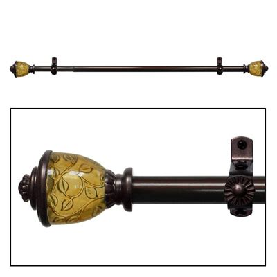 antique bronze curtain pole lincroft antique bronze curtain rod set from collections etc