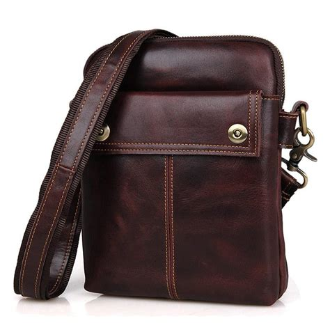 Small Leather Sling Bag s genuine leather messenger bags small sling bag