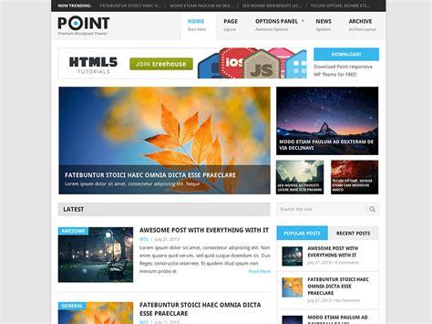 wordpress theme blog und shop update free wordpress theme point v1 1 is here