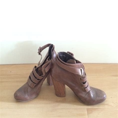 anthropologie shoes 63 anthropologie shoes brown booties from