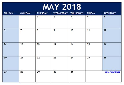 printable calendar 2018 microsoft office may 2018 calendar printable templates free download