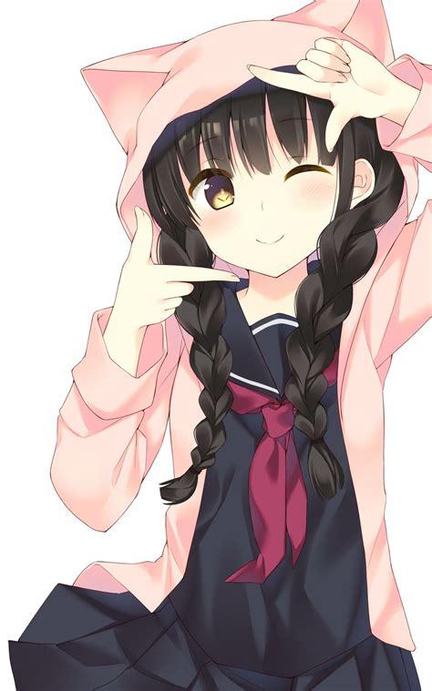 Anime With Black Hair by Anime With Black Hair Yellow Braids School
