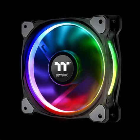 120mm rgb fan riing plus 12 rgb radiator fan tt premium edition 3 fan