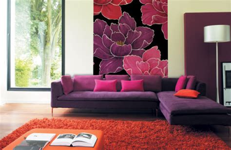 red and purple living room tips to decorate room wall with red and purple combination