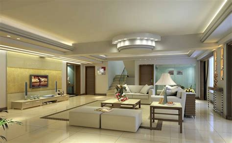 villa living room minimalist ceiling 3d house