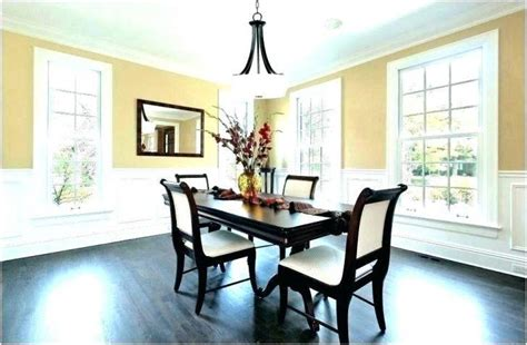 standard height  chandelier  dining room table