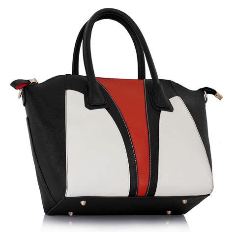 Fashion Bag Jh2011 Colour Black wholesale black white orange colour block patchwork