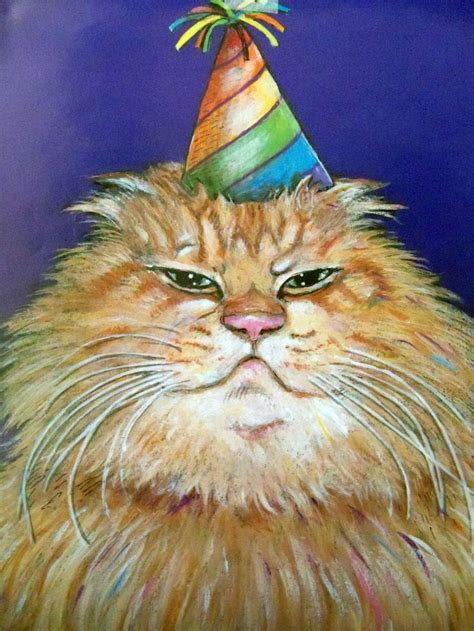 party hats cats  gary patterson gary patterson cat art cats
