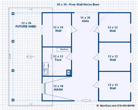 horse barn blueprints barn plans stall horse barn with lean too design floor
