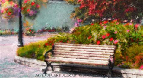park bench painting d s ullman fine art imagery