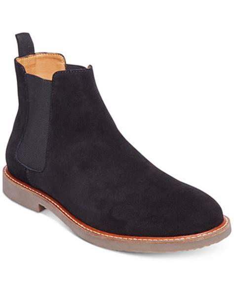 macys steve madden boots steve madden s hyghline suede chelsea boots all