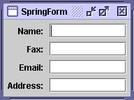 swing layout manager tutorial how to use springlayout