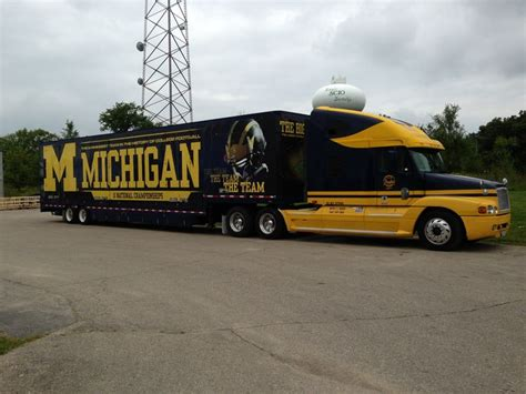truck michigan 2013 michigan football truck trailer lets go blue