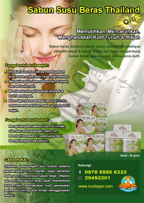 Sabun Beras Thai sabun beras thailand rice milk soap kemasan baru isodagar