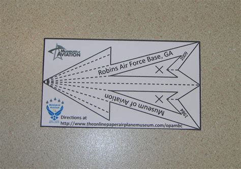 printable paper airplane card robins air force base business card 1 the online paper