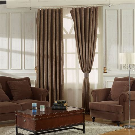 heavy thick curtains casual but classic brown color thick heavy curtain