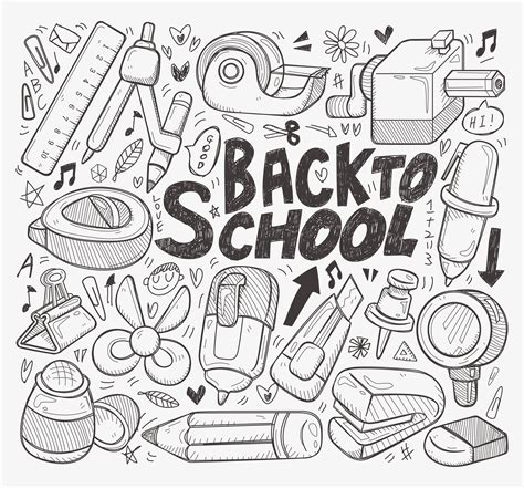 doodle school doodle back to school element allthecontent