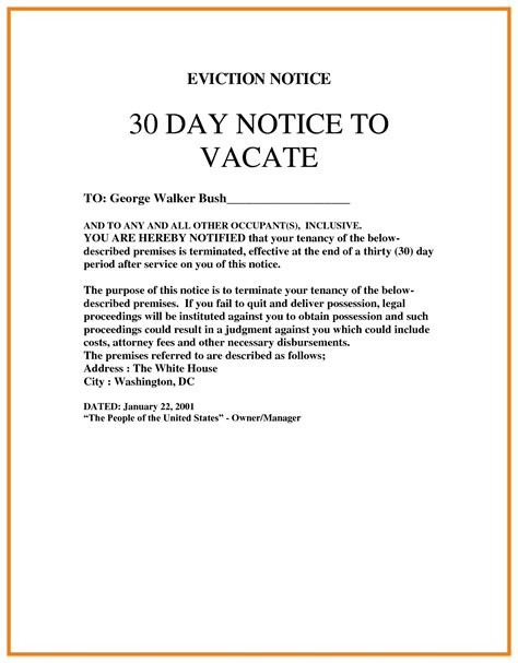 Printable 30 Day Eviction Notice blank eviction notice mughals