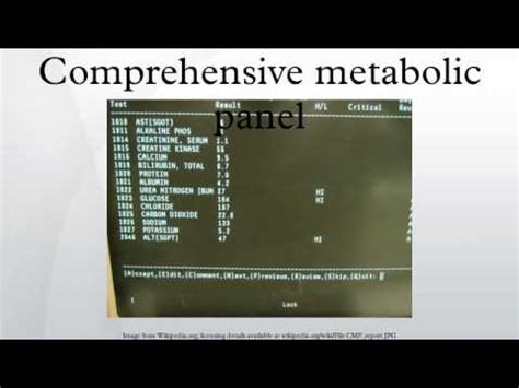 Basic Metabolic Panel Also Search For Comprehensive Metabolic Panel