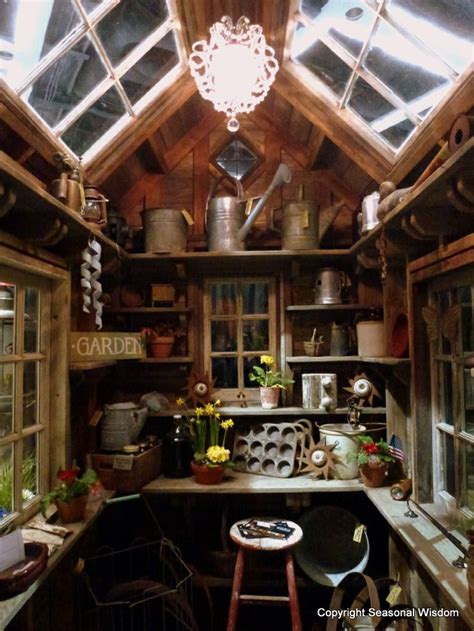 shed interiors rustic shed interior in a english country garden pinterest