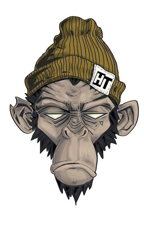thug monkey monkey illustration monkey art cartoon art