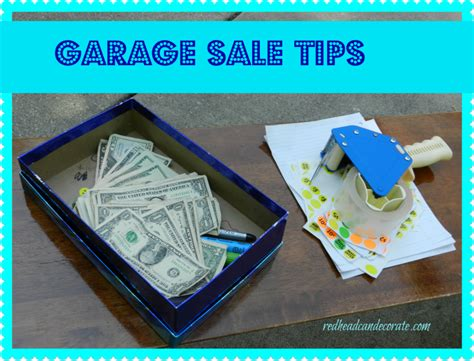 Garage Sale Tips by 25 Garage Sale Tips At The Picket Fence