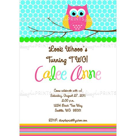 printable owl party invitations owl printable birthday party invitation dimple prints shop
