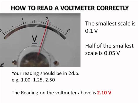 how to read how to read a voltmeter correctly