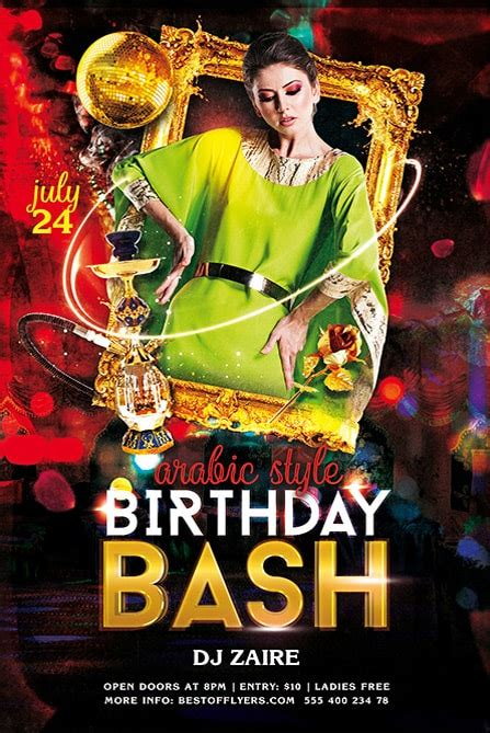 Birthday Bash Psd Free Flyer Template Best Of Flyers Bash Flyer Template