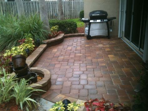 Paver Patio In A Small Space Brick Bordered Planting Landscaping Ideas For A Small Backyard