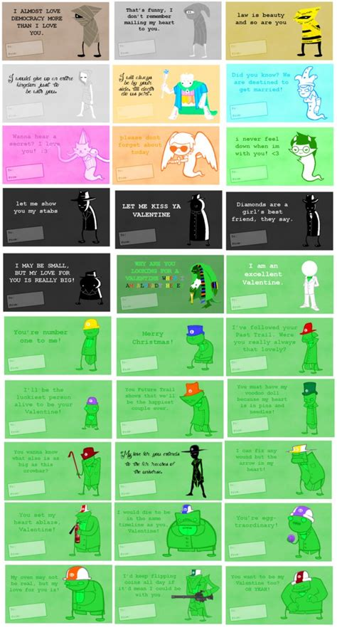 exle of valentines card homestuck valentines notes 2 by lal0nde on deviantart