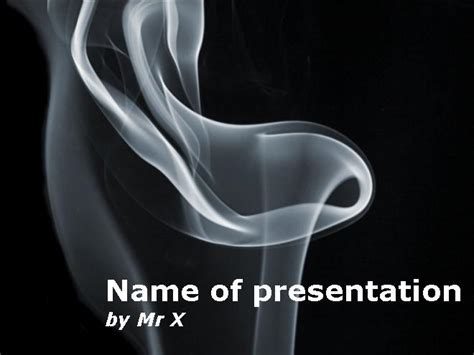 cigarette tobacco smoke powerpoint template