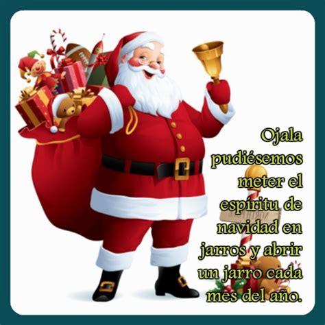 imagenes de santa claus navideñas con frases frases de santa claus para facebook imagen con frases de