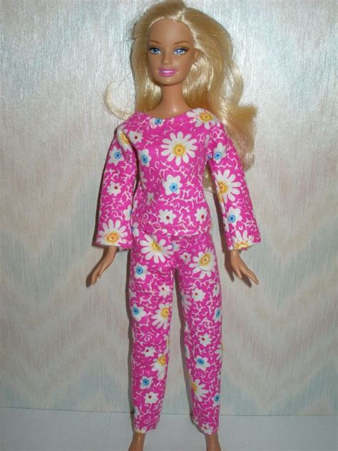 Handmade Clothes Patterns - handmade doll clothes pink flannel pajamas