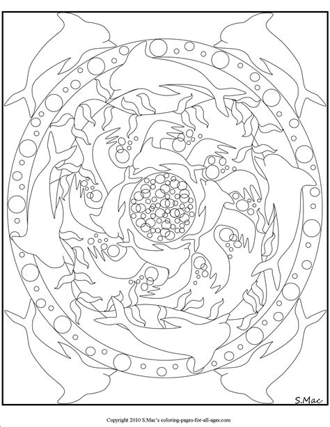 dolphin mandala coloring pages free mandala delfin coloring pages
