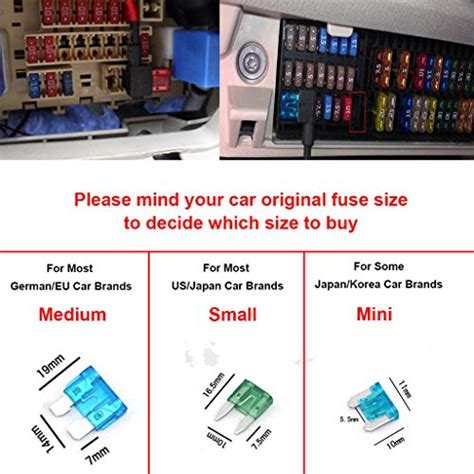 Fuse Sikring Motor Ukuran 5 10 15 20 e kylin car motor add circuit blade style fuse adapter cable add a circuit fuse holder aps att
