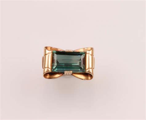spinello mobili anello fiocco con spinello sintetico vintage gioielli