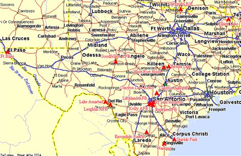 road atlas map of texas tx texas